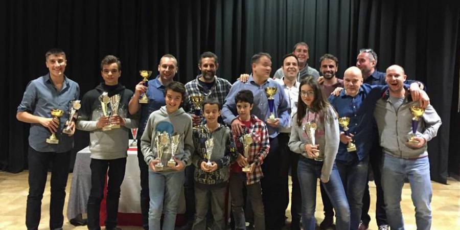 Entrega trofeus campionat social de tennis